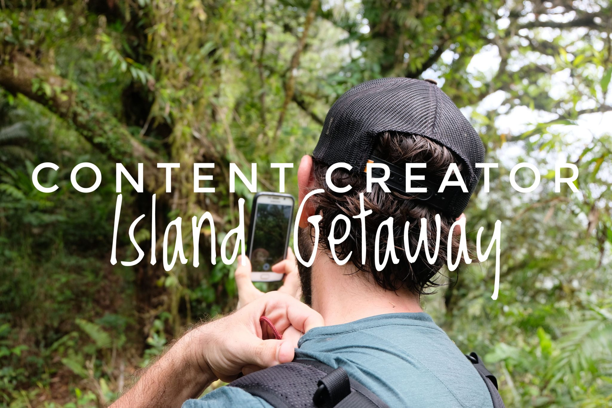 What does a content creator pack for an island getaway?