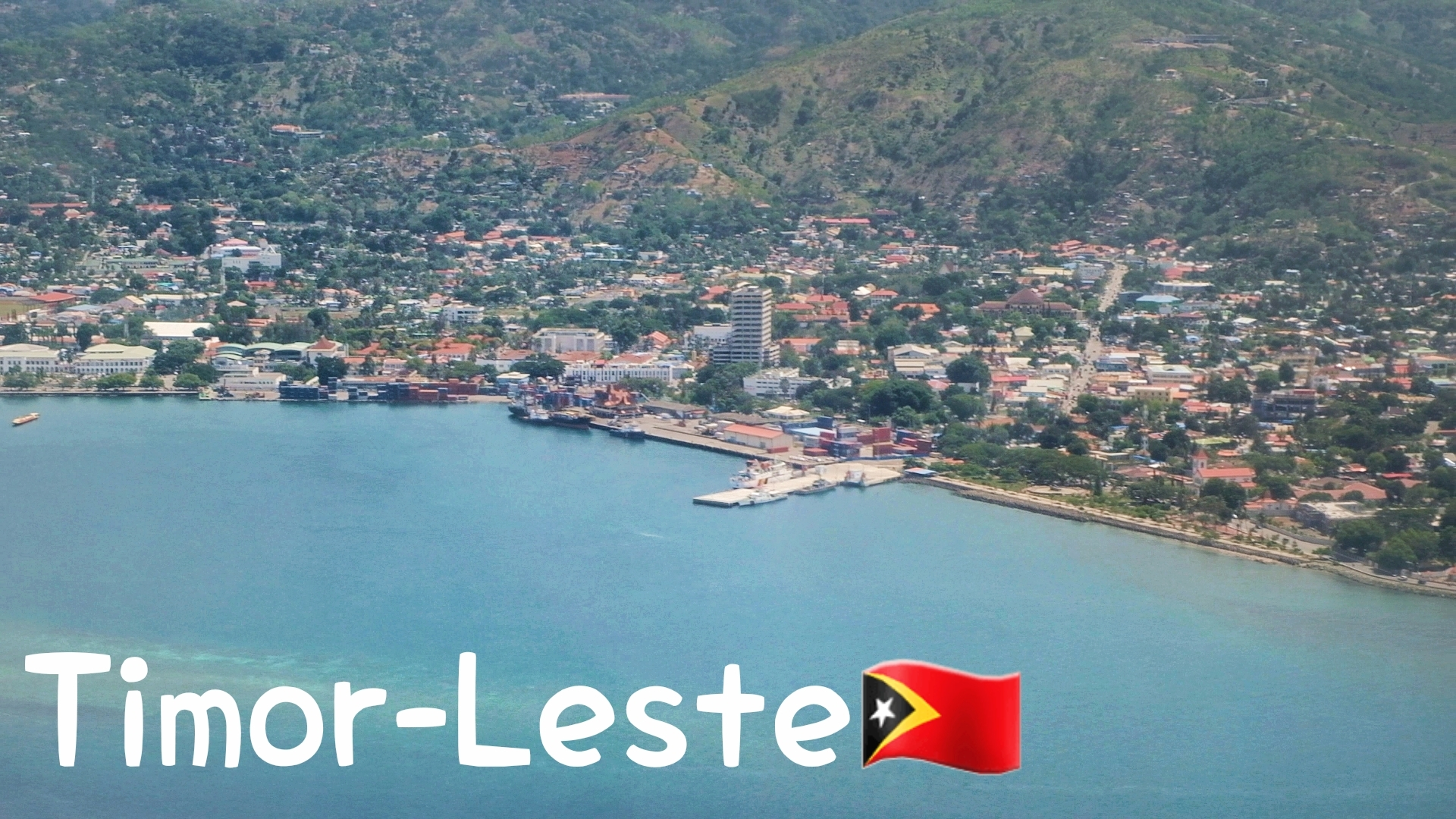A First Sight of Timor Leste From Above   Kapas Los! 🇹🇱